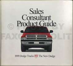 100 Dodge Truck Sales 1999 Consultant Product Guide Dealer Album Original