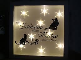 led bild beleuchtet katzen katze geschenke deko familie
