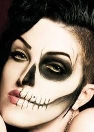 Halloween Half Mask Makeup by 36 Best Half Skull Images On Pinterest Halloween