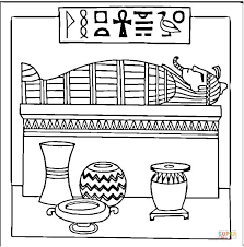Sphinx And Great Pyramid Of Giza Coloring Page
