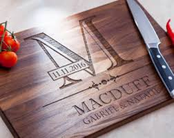 Personalized Cutting Board Custom Engraved Gift Kitchen Wedding