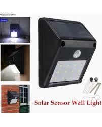 sale glime 12 led solar power light pir motion sensor light
