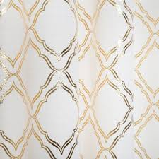 Moroccan Lattice Curtain Panels by Better Homes And Gardens Metallic Trellis Gold Or Silver Foil