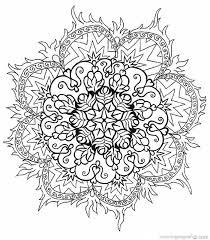 Mandalas Difisiles Paint Colouring Pages