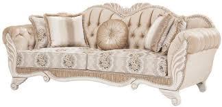 casa padrino luxus barock sofa beige weiß 230 x 88 x h 96 cm wohnzimmer sofa mit blumenmuster und dekorativen kissen barock möbel
