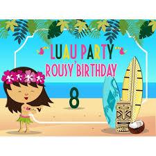 Custom Luau Birthday Banner Luau Party Banner Luau Party