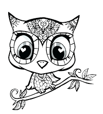 Cute Baby Unicorn Coloring Pages New Animals To Tiny Page Cartoon Printable Simple Owl Drawing