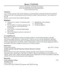 Teacher Assistant Resume Summary Teaching Fascinating Sample Also Skills Graduate