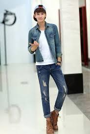 2014 British Street Style Men Jackets Lapel Long Sleeve Pockets Washed Vintage M XXL
