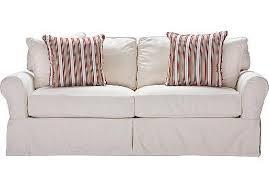 crawford home beachside white denim sofa sofas rooms to go