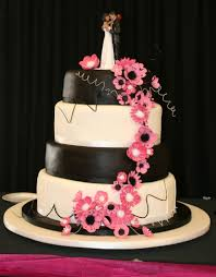 Black White And Hot Pink Wedding Cakes Wedding s Best Inside Wedding Cake Designs Pink And Black