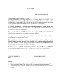 Formato Carta Poder Para Junta Ordinaria De