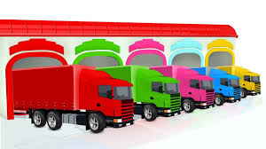 Colors For Children To Learn With Container Trucks | Colours For ... Ambulance Video For Children Kids Truck Fire And Rescue Tow Youtube Alphabet Garbage Learning Vacuum Trucks Color Cars In Spiderman Cartoon Videos Colors Pictures Of For Group 67 Monster Road Roller Excavator