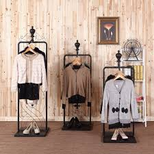 Bedroom The Most Clothing Display Store Shelf Rack Concerning Inside Racks