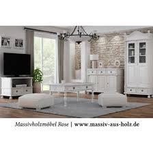 massivholzmöbel wohnzimmer weiß landhaus