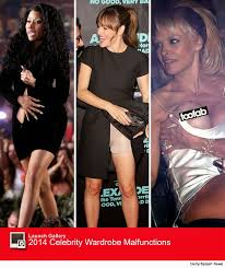 2014 Year In Review Celebrity Wardrobe Malfunctions
