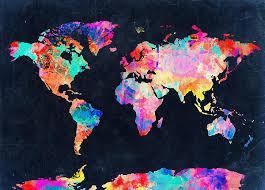 Map Of The World Watercolor 4 By Bekim Art
