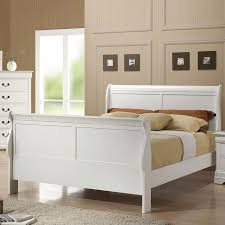 louis philippe sleigh bed white coaster furniture furniturepick