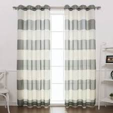 Striped Curtain Panels 96 by Shop For Exclusive Fabrics Cabana Cotton 96 Inch Horizontal Stripe