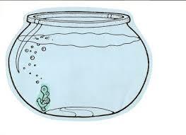 Fishbowl Clipart Empty Fish Bowl Coloring Sheet Image