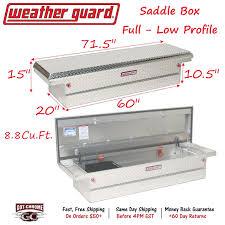 121-0-01 WEATHER GUARD Aluminum Saddle Box 71