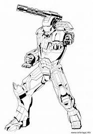 Coloriage De Iron Man Papedelcacom