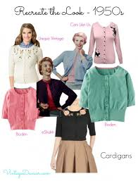Look Out For Cropped Cardigans Sitting Just On Or Below The Waistline A Great 1950s