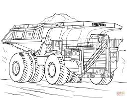 100 Truck Color Pages Caterpillar Mining Coloring Page Free Printable Ing