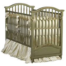Gretels Antique Spindle Crib In Versailles Green Finish and