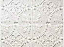 3 white tin ceiling tiles coffered look faux tin ceiling tile