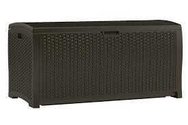 Frys Marketplace Patio Furniture by Amazon Com Suncast Dbw9200 Mocha Resin Wicker Deck Box 99
