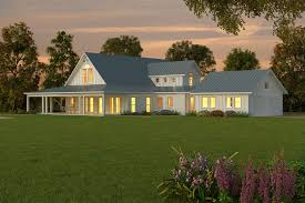 Single Story Country House Plans Concept