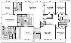 Triple Wide Modular Homes Floor Plans by 6 Bedroom Triple Wide Floor Plans Web Hot100 Com Option For