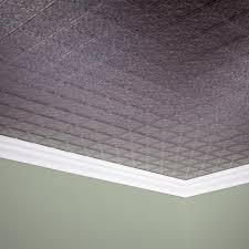 fasade traditional 10 2 x 4 pvc glue up ceiling tile at menards
