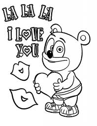 Source Clipartsco I Love You Gummy Bear Coloring Pages Free Amp Printable For Page