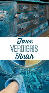 Faux Verdigris Finish Paint Ideas For FurniturePainting