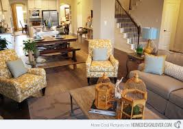 Model Home Living Room Fab Designs With Yellow Accent On