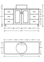 Ada Bathroom Counter Depth by Bathroom Bathroom Vanity Dimensions Standard Stunning Standard