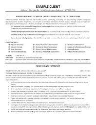 Manufacturing Technician Resume Engineering Maintenance Sample