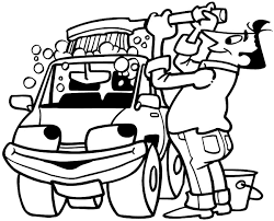 Man Washing Car Clipart 14