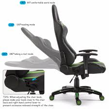 US $124.99 |Giantex Racing Style High Back Gaming Chair Reclining Chair  Office Computer Office Furniture HW59418GN-in Office Chairs From Furniture  On ... Xtrempro G1 22052 Highback Gaming Chair Blackred Details About Ergonomic Racing Gaming Chair High Back Swivel Leather Footrest Office Desk Seat Design Computer Axe Series Blackred Check Out Techni Sport Racer Style Video Purple Shopyourway Topsky Pu Executive Merax 217lx 217w X524h Blue Amazoncom Mooseng New Lumbar Support And Headrest Akracing Masters Premium Highback Carbon Black Energy Pro