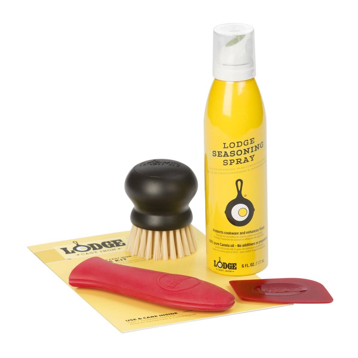 Lodge Seasoned Cast Iron Care Kit - Yellow