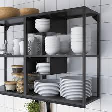 enhet küche anthrazit eichenachbildung 183x63 5x222 cm