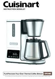 Coffee Maker Manuals 8 Cup Thermal Pour Over Cuisinart Dcc 3200