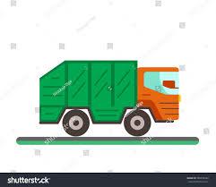 Garbage Truck Illustration Waste Disposal Flat Stock Illustration ...