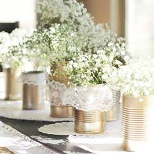 diy upcycled metallic tin can wedding centerpieces mon cheri bridals