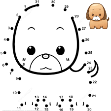 Click To See Printable Version Of Cute Baby Dog Dot