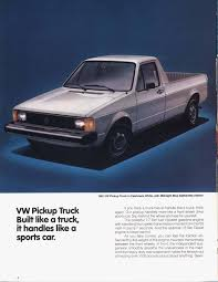 100 Rabbit Truck TheSambacom VW Archives 1981 VW Pickup Brochure
