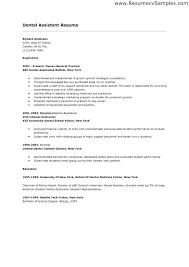Dental Resumes Examples Sample Assistant Resume Hygienist