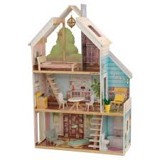 Wooden Dolls House Furniture Set Miniature Home Kitchen Room